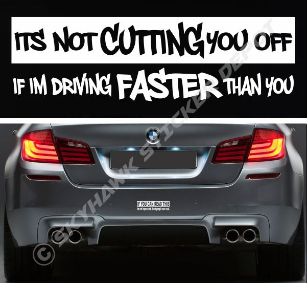 Cutting you off funny bumper sticker vinyl decal car truck sticker fits mustang 3mavery