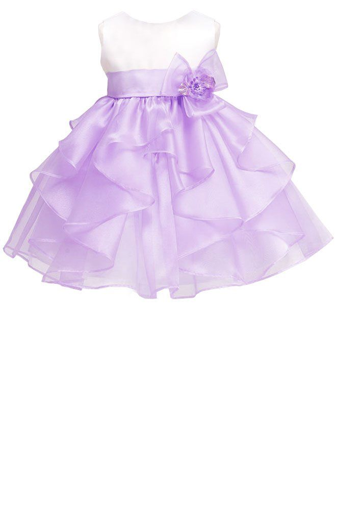 Simply precious! ~ White and lilac cascading ruffles organza skirt ...