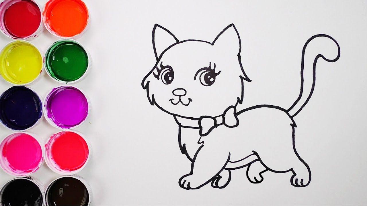 Como Dibujar y Colorear Un Gato de Arco Iris - Dibujos Para Niños ...
