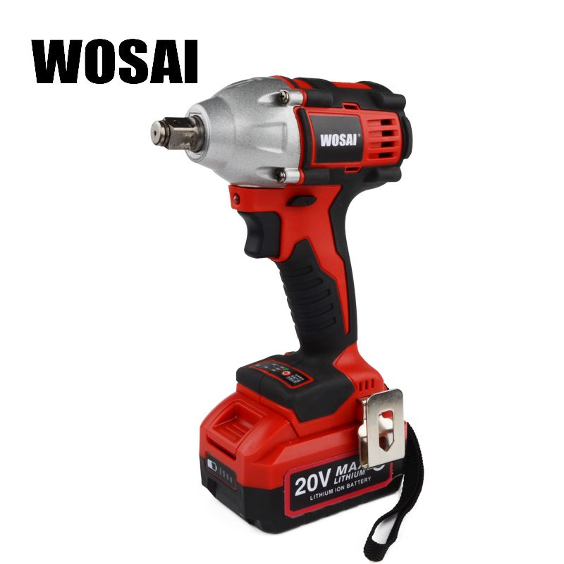 Wosai 20v Lithium Battery Brushless Impact Electric Wrench Max Torque 320n M 4 0ah Cordless Socket Wrench Power Tools Lithium Battery Battery Socket Wrenches