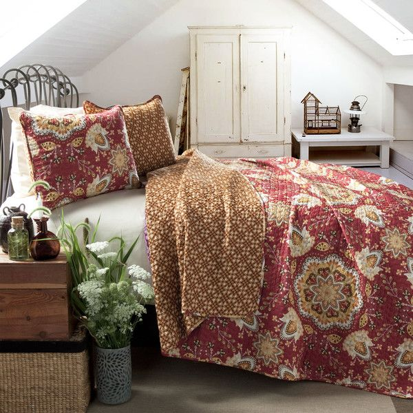 Shop Joss & Main for your 3-Piece Abigail Reversible Coverlet Set. A timeless textile with a vibrant pop, this eye-catching cotton coverlet set lends a dash of pattern to your master suite or guest room.