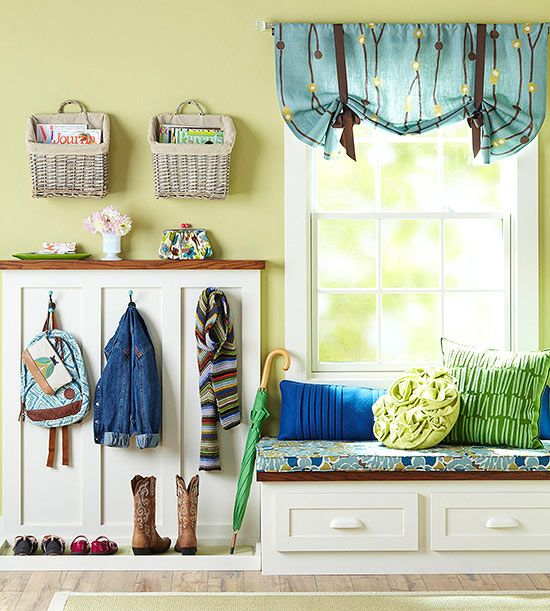 In the Mudroom - so neat and tidy! Love the built ins!