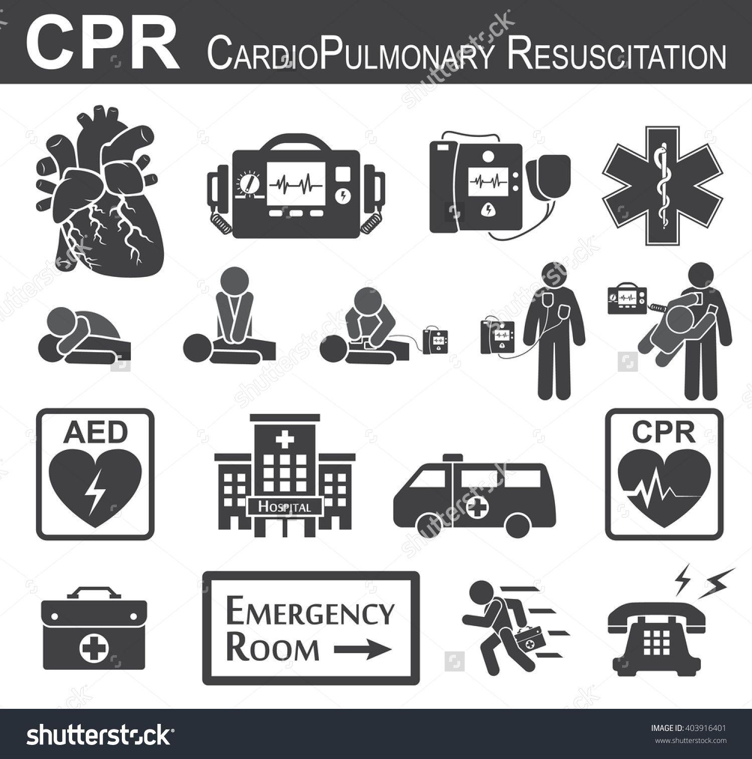 Colorado Cardiac Cpr: CPR ( Cardiopulmonary Resuscitation ) Icon ( Black & White