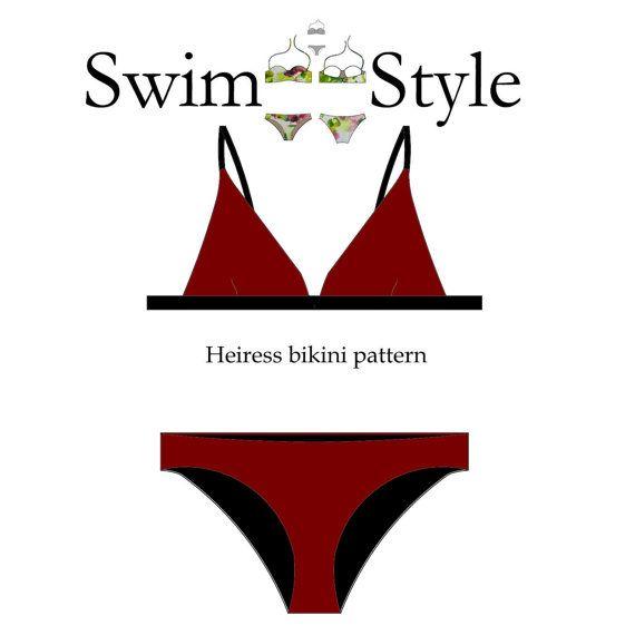 Heiress Women s bikini sewing pattern by Swimstylepatterns on Etsy ...