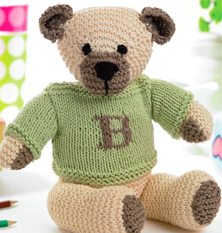 Classic Teddy with Jumper | Knitting Patterns | Let's Knit ...