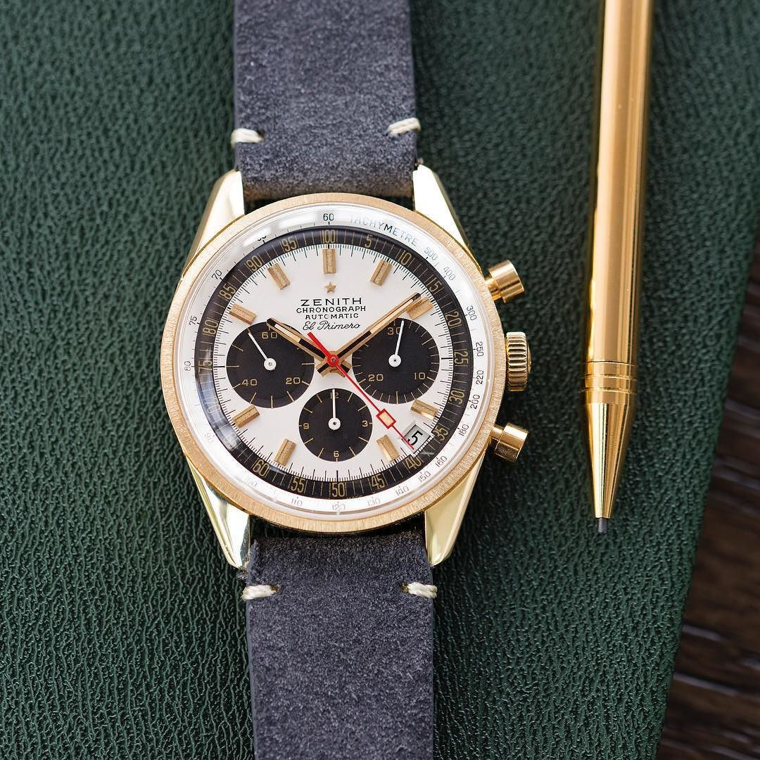 As Clean As The Day Is Long One 700 Eighteen Carat Gold Zenith El Primero G381s Ever Made Vintage Watches Chronograph Design Chronograph Watch