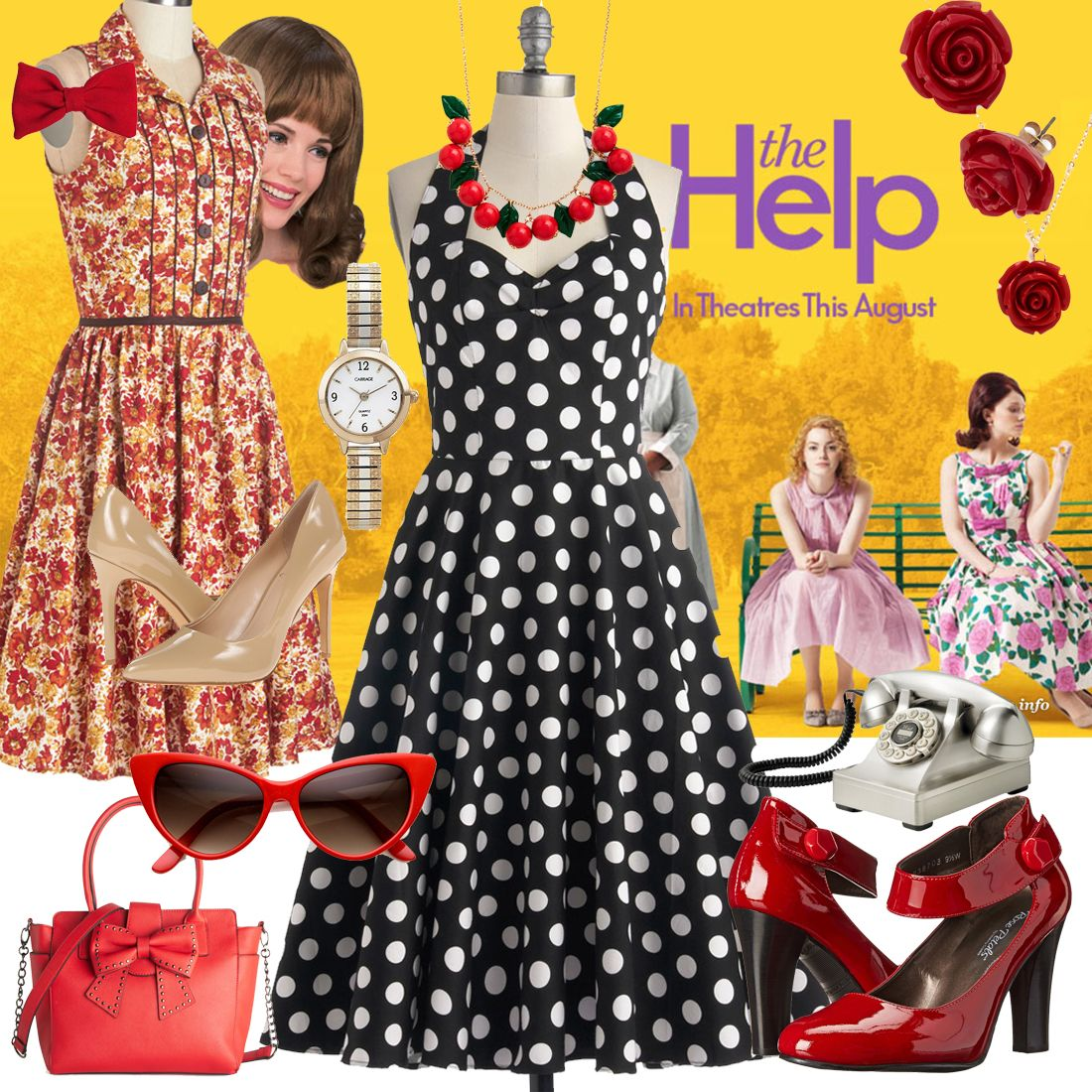 2019 year look- Inspiration Inspirationmovie fashion inspired by the help
