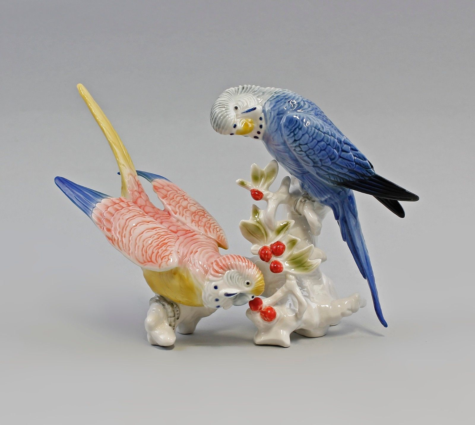A2 97707 Budgie Pair of Pink Blue Ens Thuringia eBay