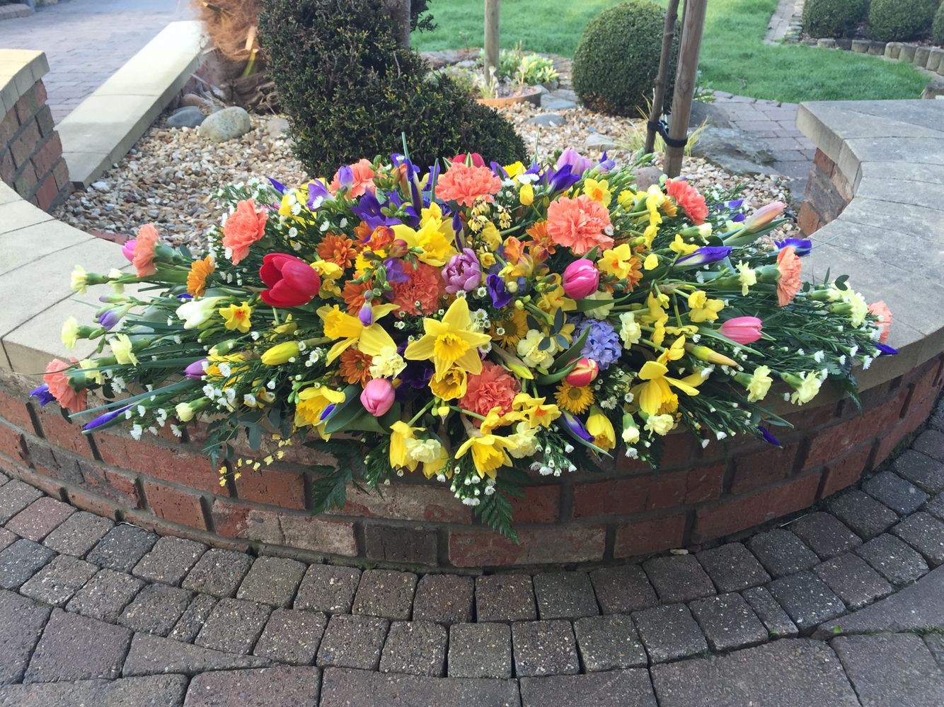 Spring flowers casket spray mixed colours garden pinterest spring flowers casket spray mixed colours dhlflorist Choice Image