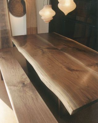 Canadian Black Walnut Slab Dining Table From Broadbent Furniture