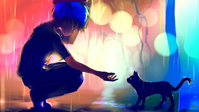 تشكيلة خلفيات المطر حزينه عالية الدقة للكمبيوتر والجوال 83 خلفية 4k مداد الجليد Black Cat Anime Anime Art Beautiful Anime Wallpaper