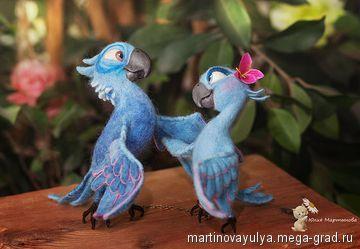 попугайчики из Рио:) - игрушечный персонаж сказки. МегаГрад - город мастеров и художников