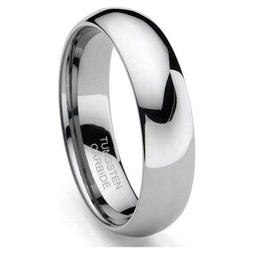 6mm Classic Domed Tungsten Carbide Ring Mens Wedding Bands Tungsten Tungsten Wedding Bands Tungsten Carbide Wedding Bands