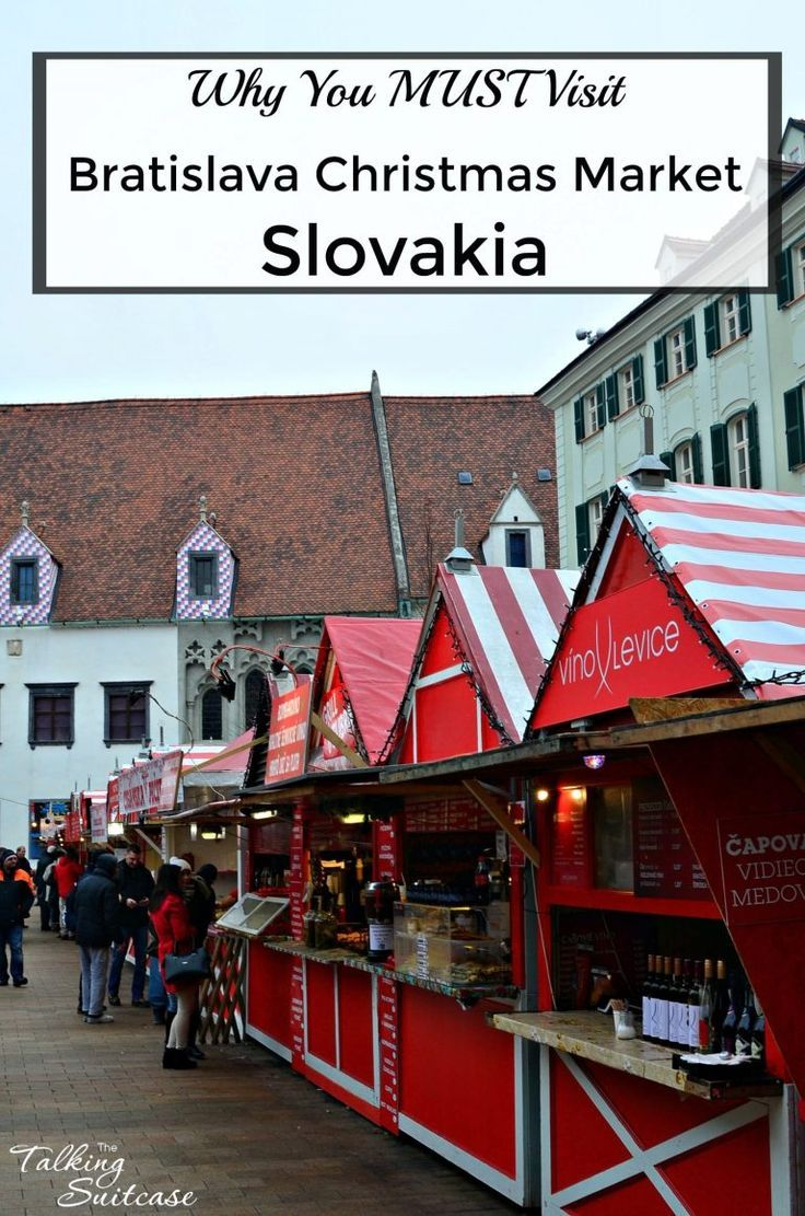 The Bratislava Christmas Market has approximately 100 red   white stalls  are teeming with traditional Slovakian cuisine and handcrafted goods. e42c9fab692