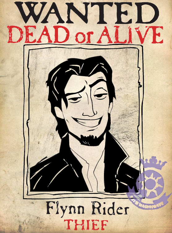 Wanted to create a duplicate Flynn Rider Poster for anyone who wanted to print it out. Did my best to make it look like the original movie poster . Here's a link for those who want to print it on t...