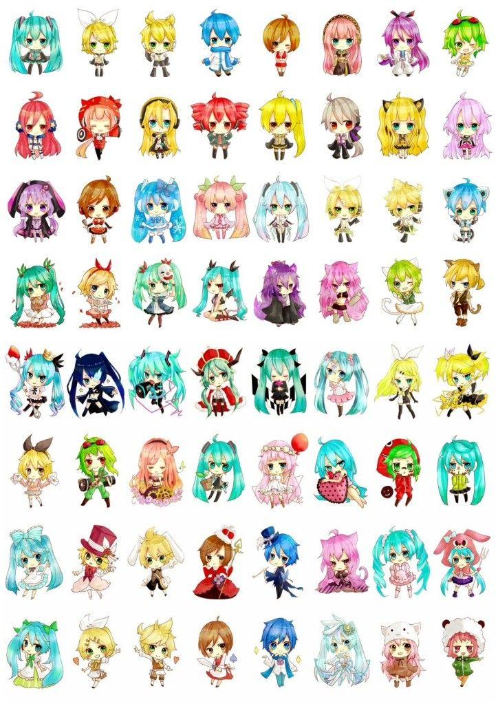 Chibi Vocaloid! My favorite is SeeU . Vocaloid HatsuneMiku SeeU