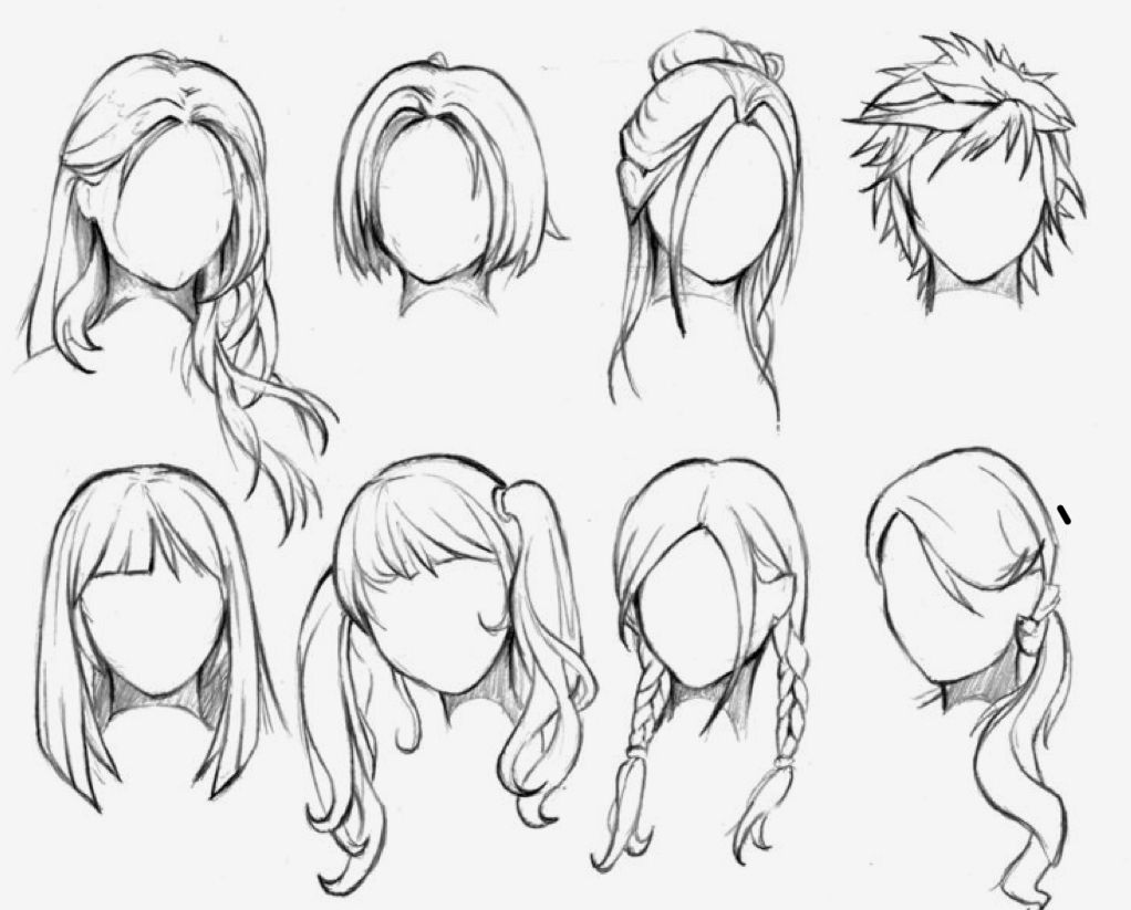 These Are Very Easy Female Anime Hairstyles You Can Do Hope You Enjoy Manga Hair How To Draw Hair Female Anime Hairstyles