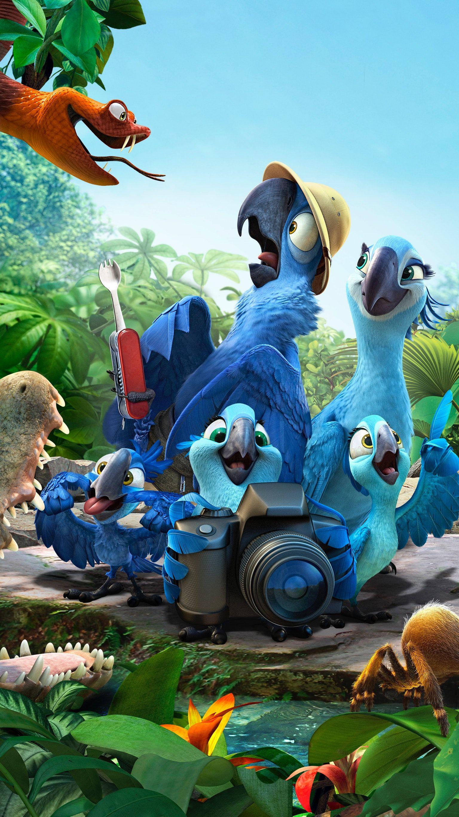 Rio blu rio party blu pappagalli e disegni