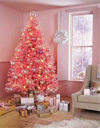 Pastel pink 2015 Christmas home decor, Pastel pink tie dye tree decor, Pastel pink 2015 Christmas angel decor - LoveItSoMuch.com