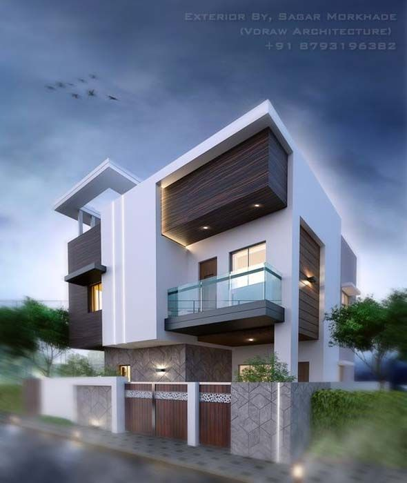 Modern Home Elevation Designs: Latest Front Elevation Of Home 2019 Designs