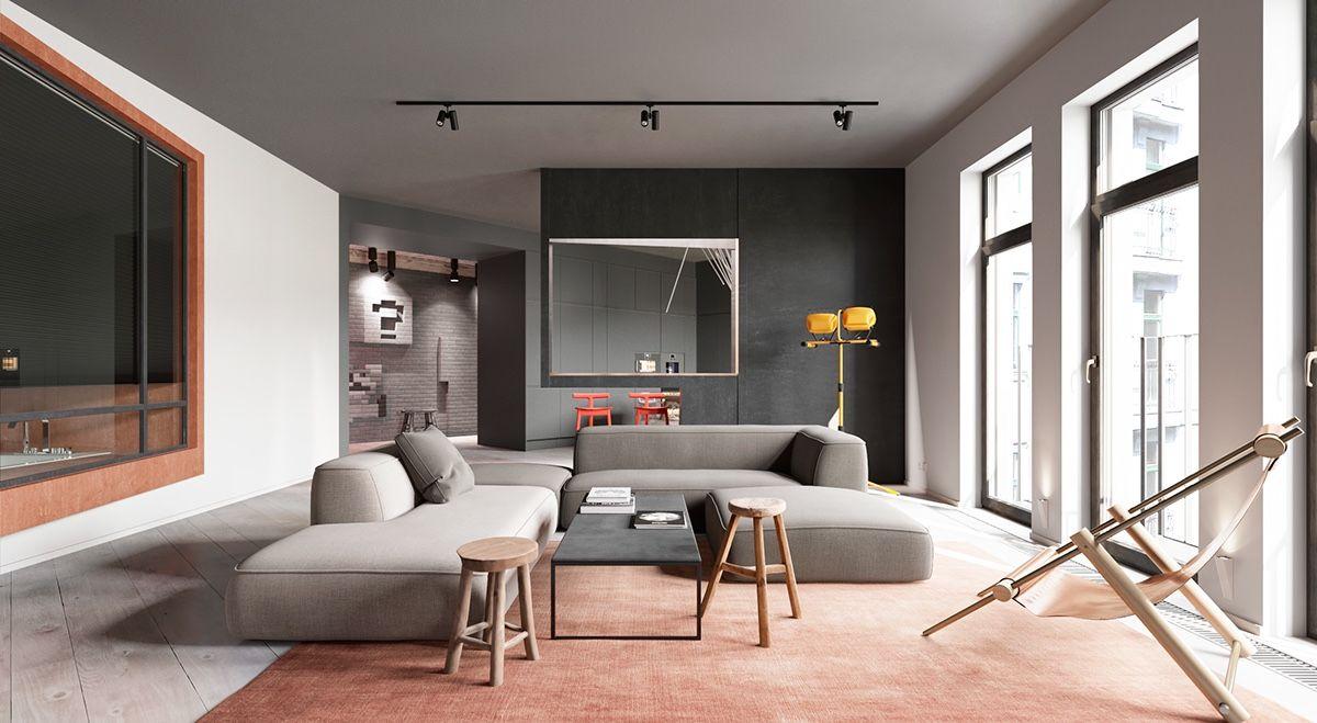 A Sleek Apartment The Divides Rooms Creatively Modern Li