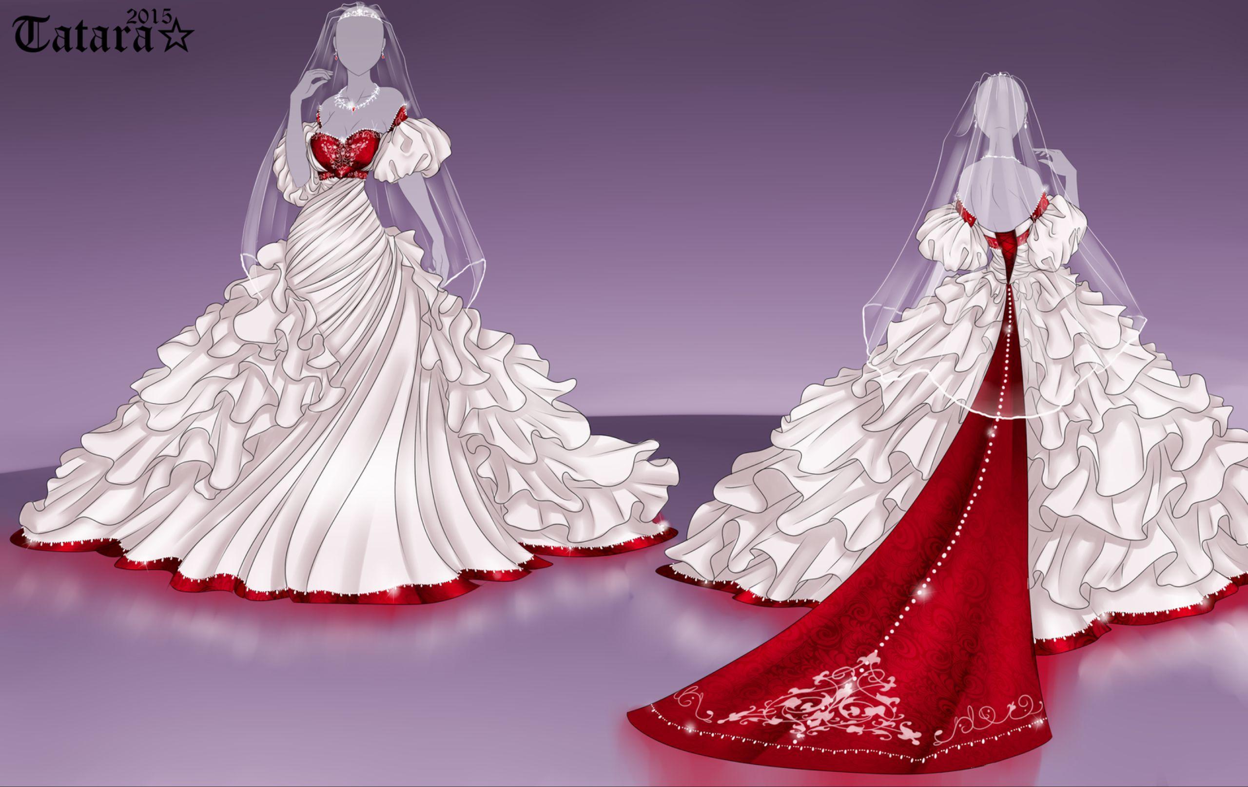 Dream Wedding Dress Design 1 By Tatara94 On Deviantart Wedding Dress Drawings Anime Dress Fashion Design Drawings