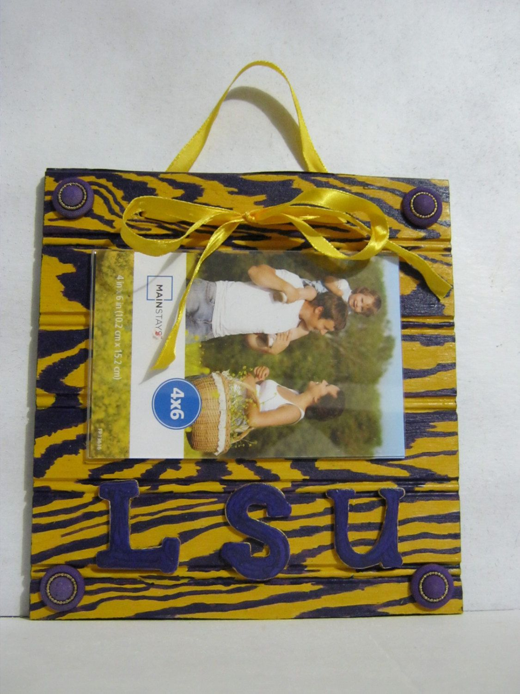 LSU Photo Frame by TwinzanityCreations on Etsy | Art | Pinterest
