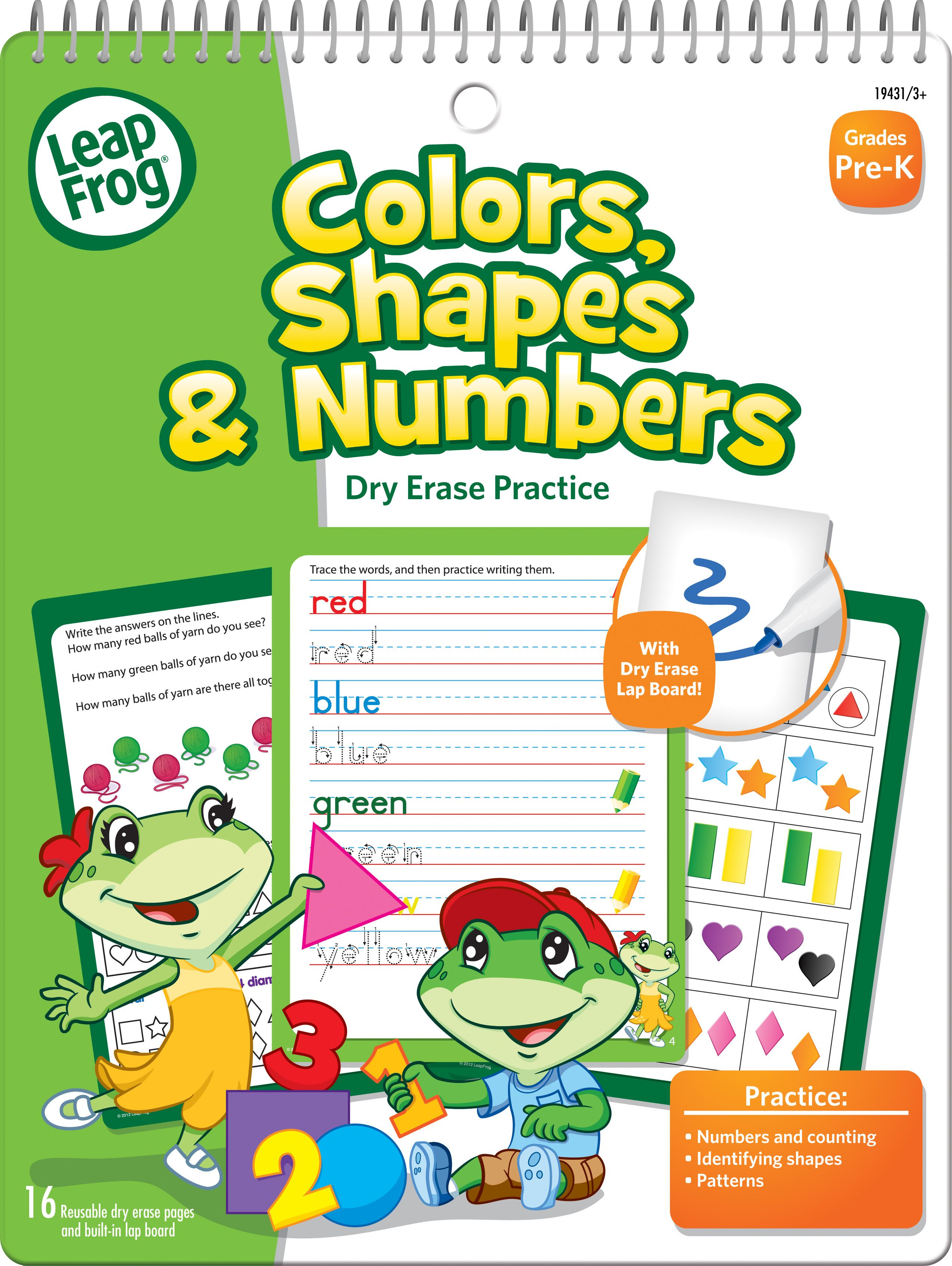 LeapFrog® Colors, Shapes & Counting is a mini dry erase and spiral ...