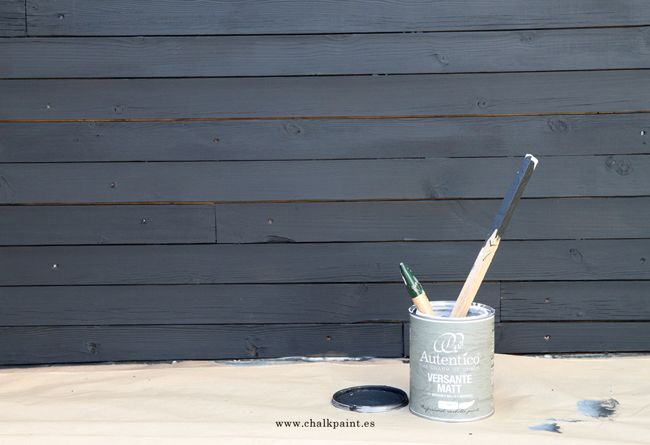 Crea Decora Recicla by All washi tape | Autentico Chalk Paint: CASETA CON CHALK PAINT DE EXTERIOR ·VERSANTE·