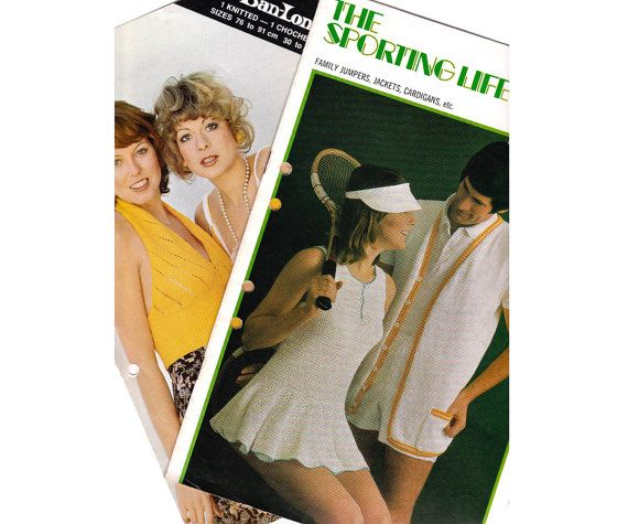 1970s crochet knitting patterns booklets by allthepreciousthings, $9.00