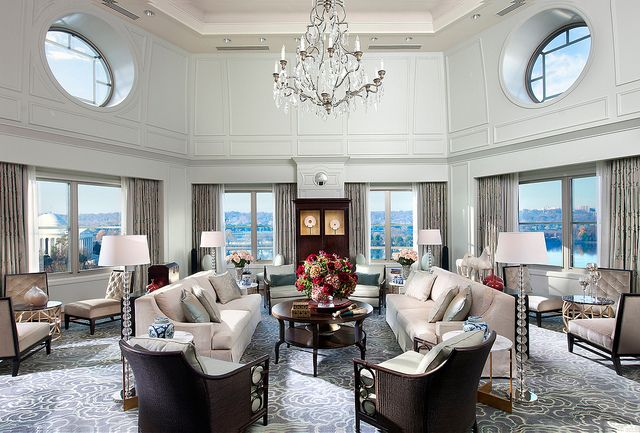 Presidential Suite Living Room at Mandarin Oriental, Washington ...