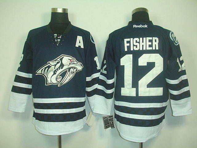 Nashville Predators 12 Mike FISHER Third Jersey