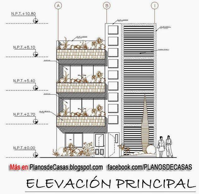 Planos de vivienda multifamiliar planosteo for Casa minimalista dwg