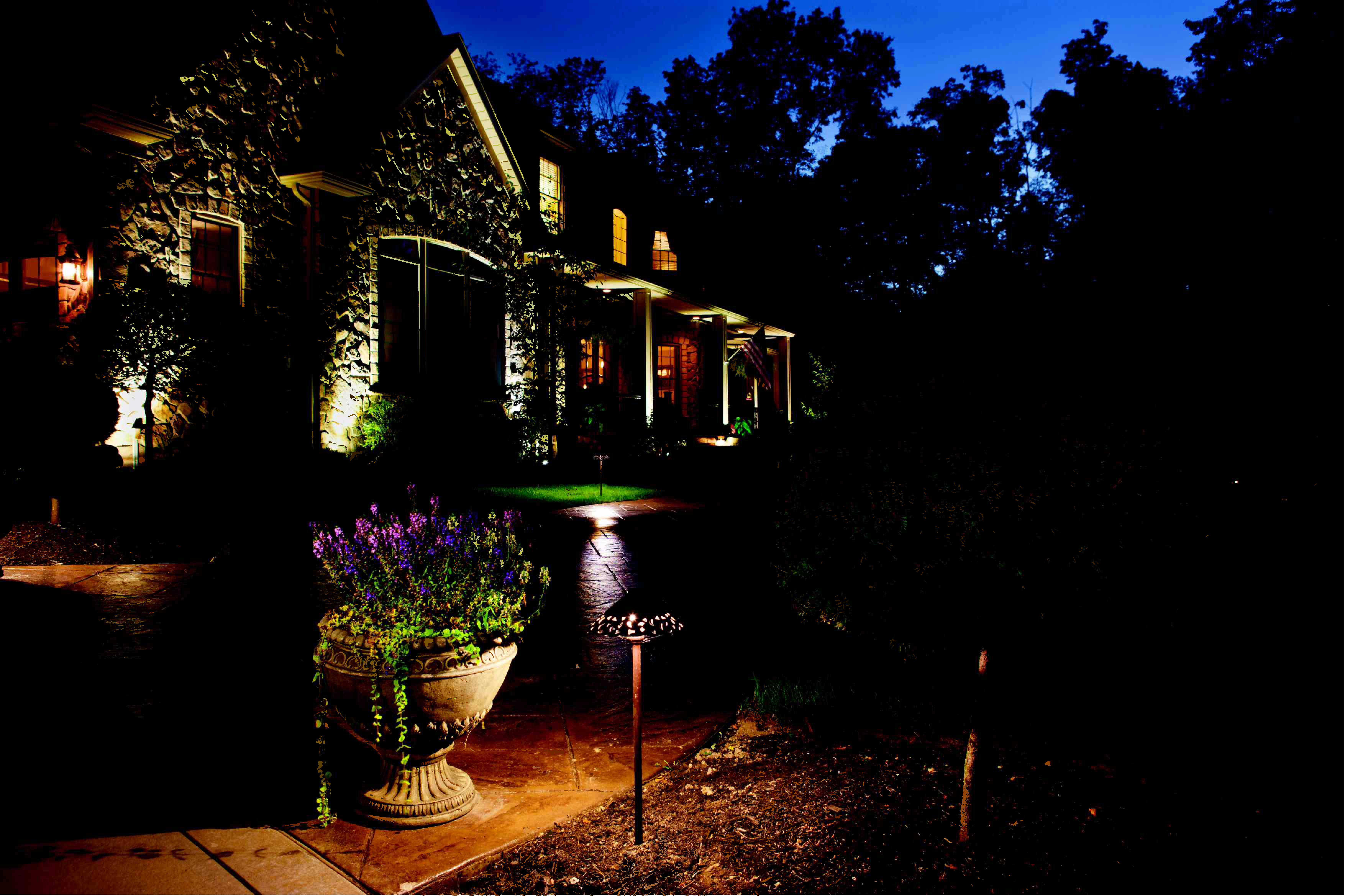 landscape lighting by kichler outdoor lighting pinterest