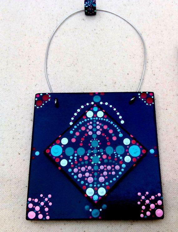 Mandala tiles frame pin ceramic painted tiles mandala - Bunte kuchenfliesen ...