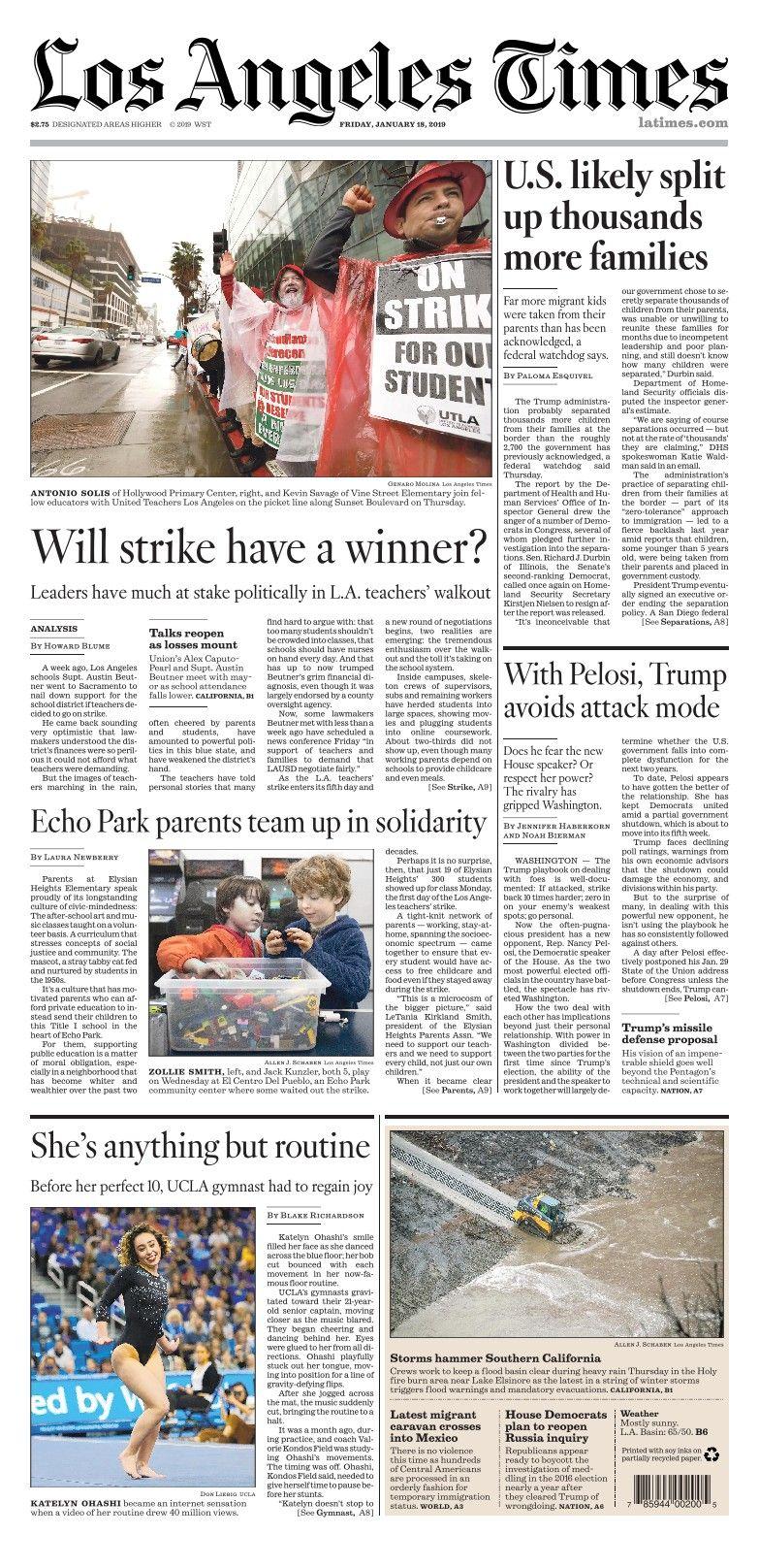 Los Angeles Times Enewspaper Los Angeles News Articles Angel
