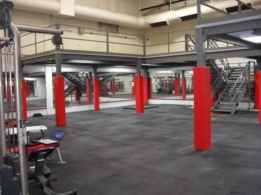 Storage On Top Of A Mezzanine Can Include More Than Just Boxes In This Case The Platform Will Be Used To Suppo No Equipment Workout Gym Design Cardio Workout