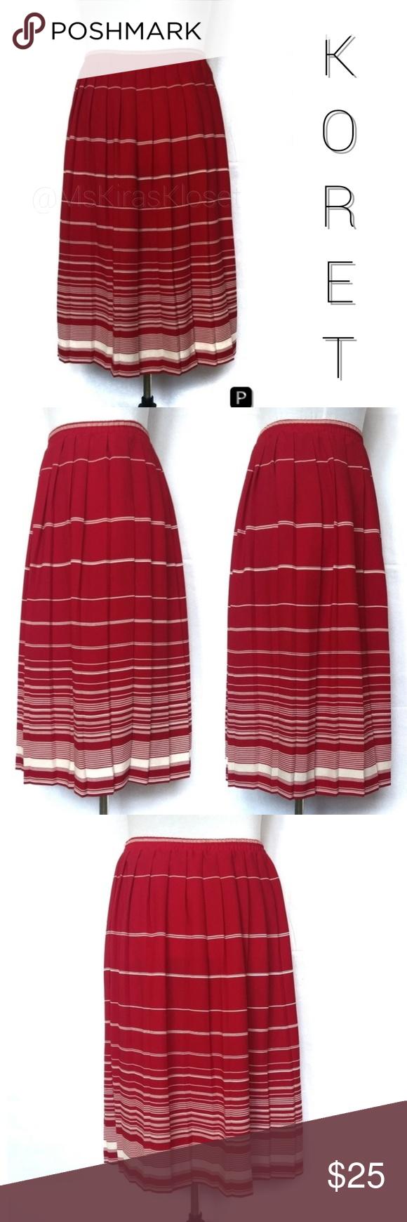 Red and white striped Koret skirt