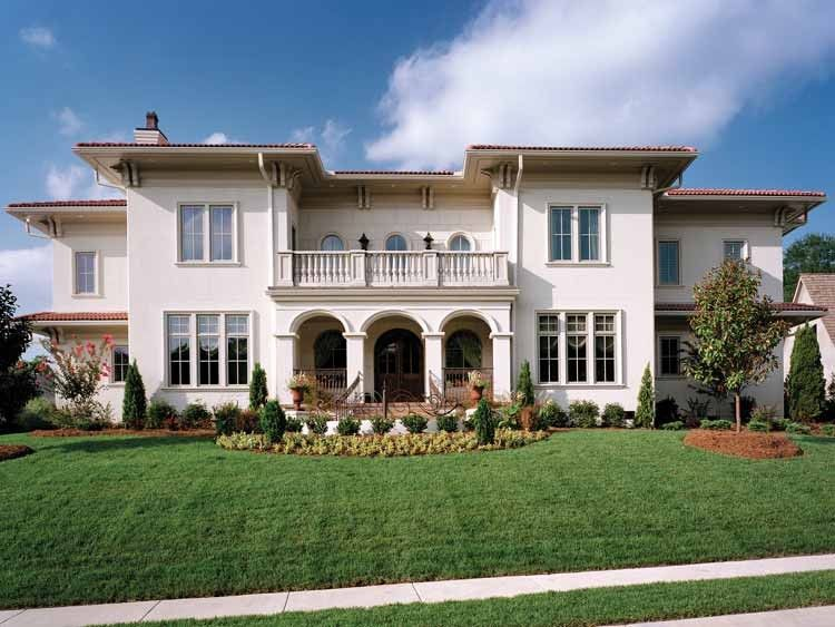 Mediterranean Style House Plan 5 Beds 5 5 Baths 6453 Sq Ft Plan 453 383 Mediterranean House Plans Mediterranean Style House Plans Mediterranean Homes