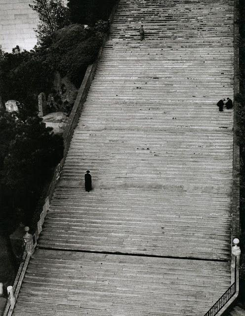 Herbert list rome 1949 · stairwaysblack white