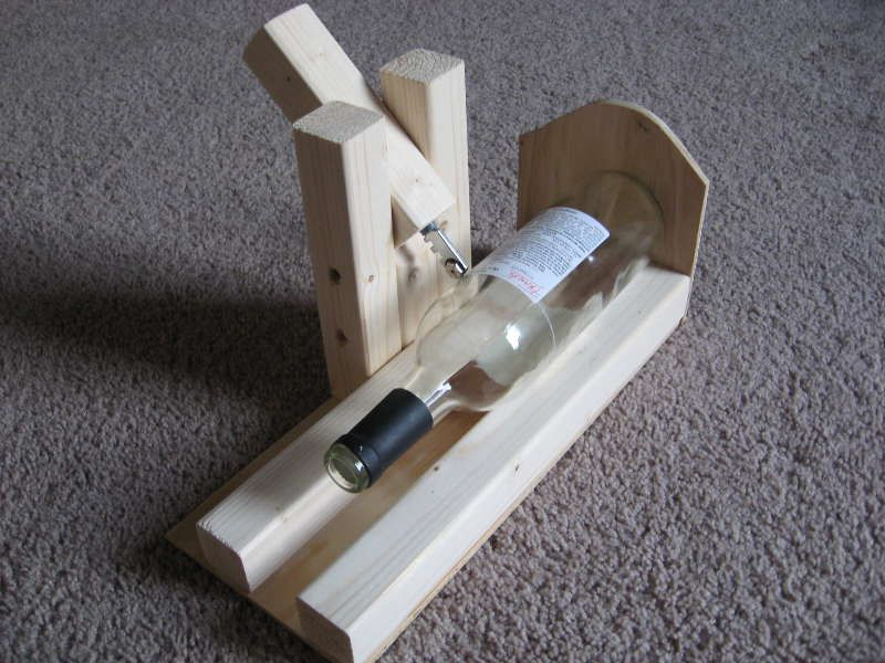Holder for cutting bottles mind the result is a for How to cut a bottle to make a glass