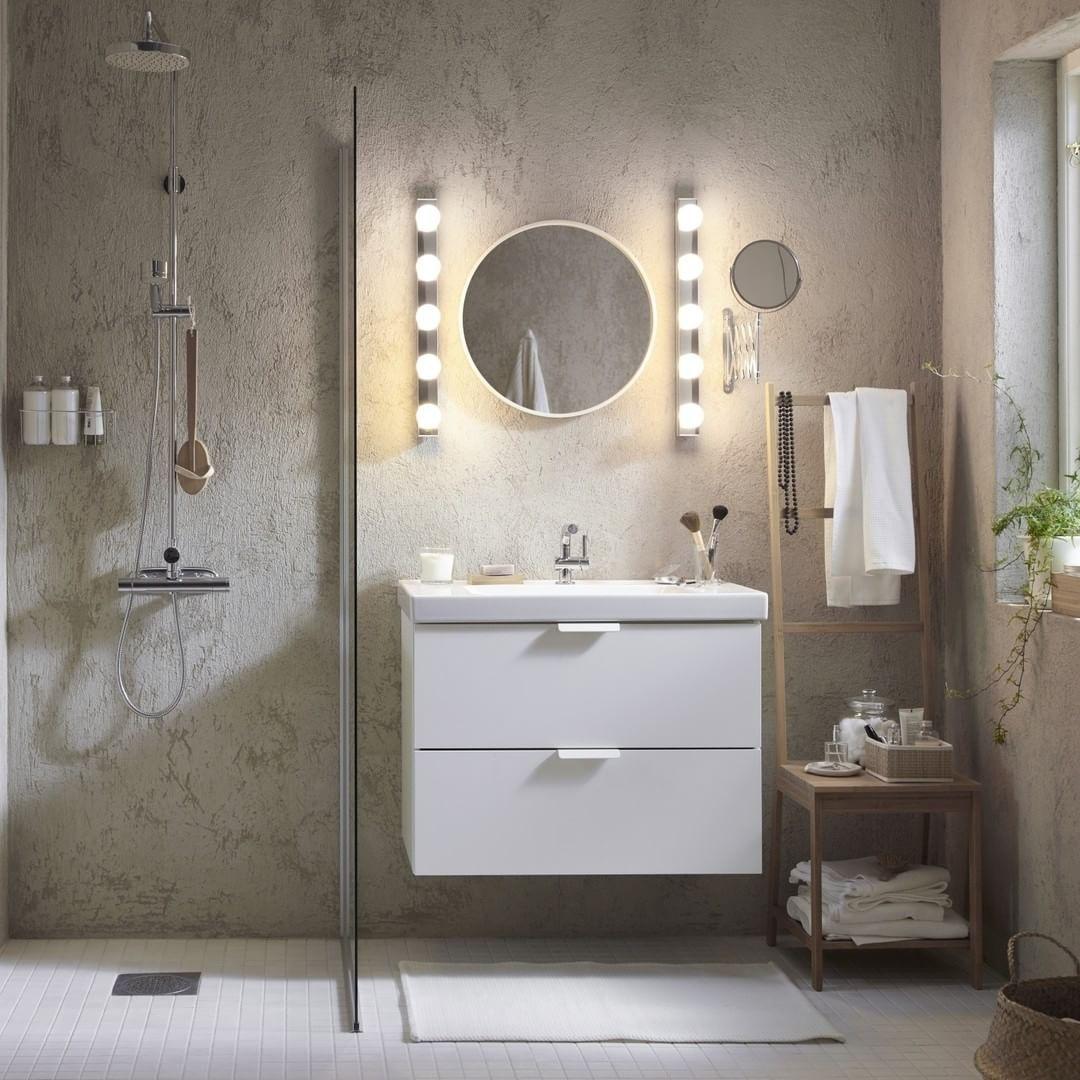 Que Pensez Vous De Cette Salle De Bain Claire ? Luminaires LEDSJÖ  #IKEAfrance #