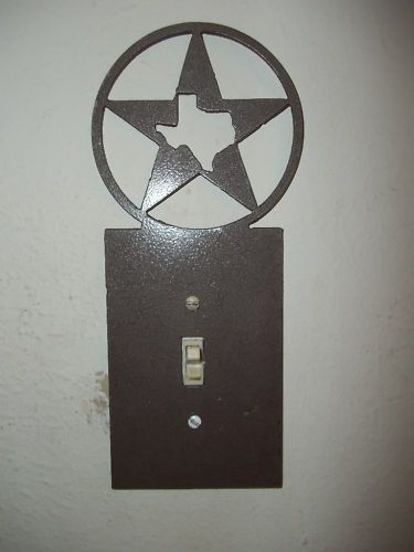 Custom metal texas star light switch plate cover decor home cabin custom metal texas star light switch plate cover decor home cabin rustic sciox Image collections