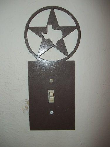 Custom Metal Texas Star Light Switch Plate Cover Decor Home Cabin