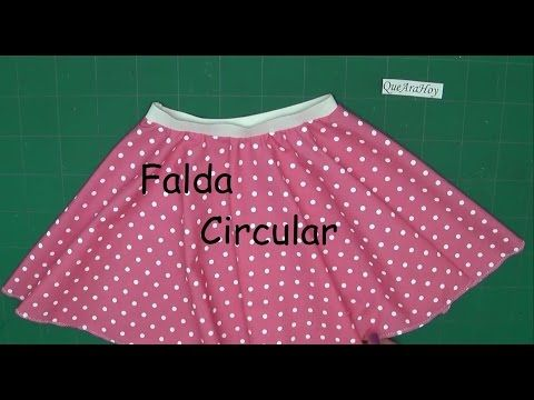 97d8c8c34 Falda Circular Alta Costura para NIÑOS clase # 75 - YouTube   ana ...