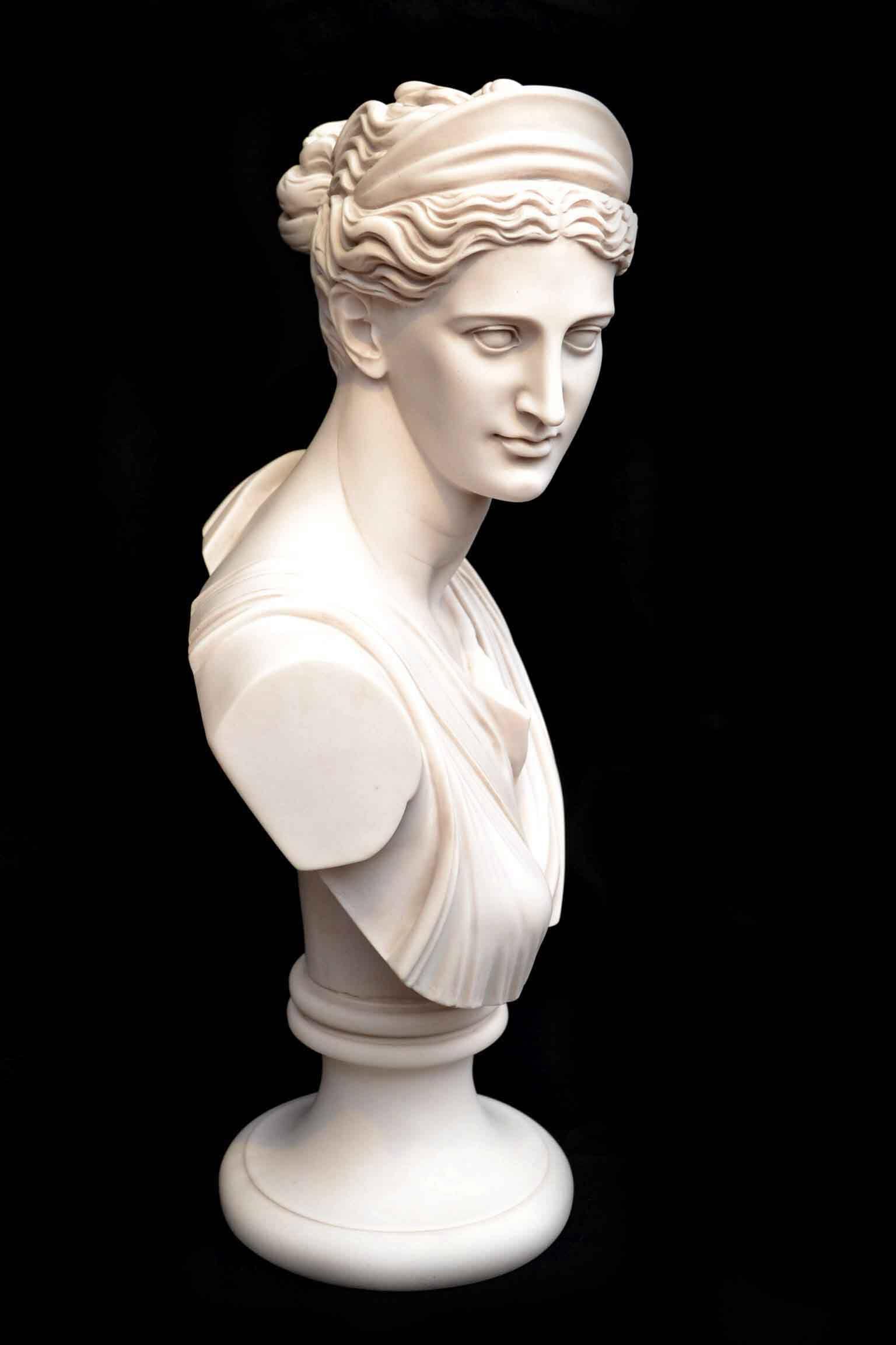 Stunning-Marble-Bust-of-Diana-8.jpg. | Sculpture grecque antique, Sculpture grecque, Sculpture