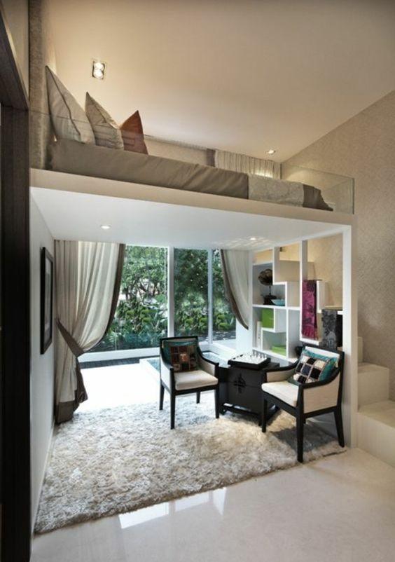 hochbett muss nicht immer was f r studenten oder kleine r ume sein hochbetten pinterest. Black Bedroom Furniture Sets. Home Design Ideas