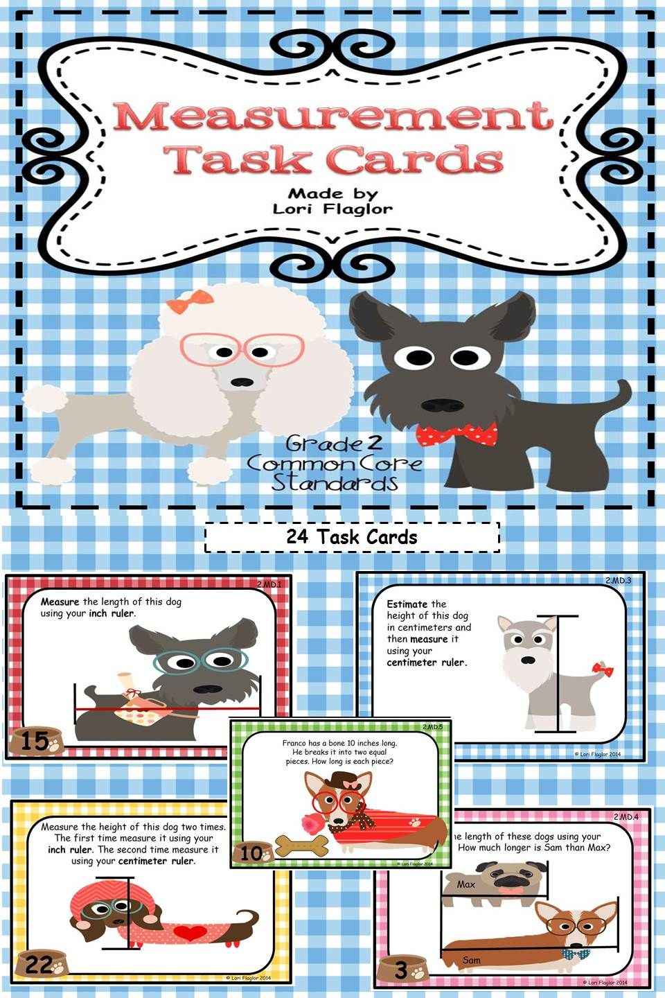 Measurement Task Cards- 2nd Grade Common Core Aligned | Maths ...