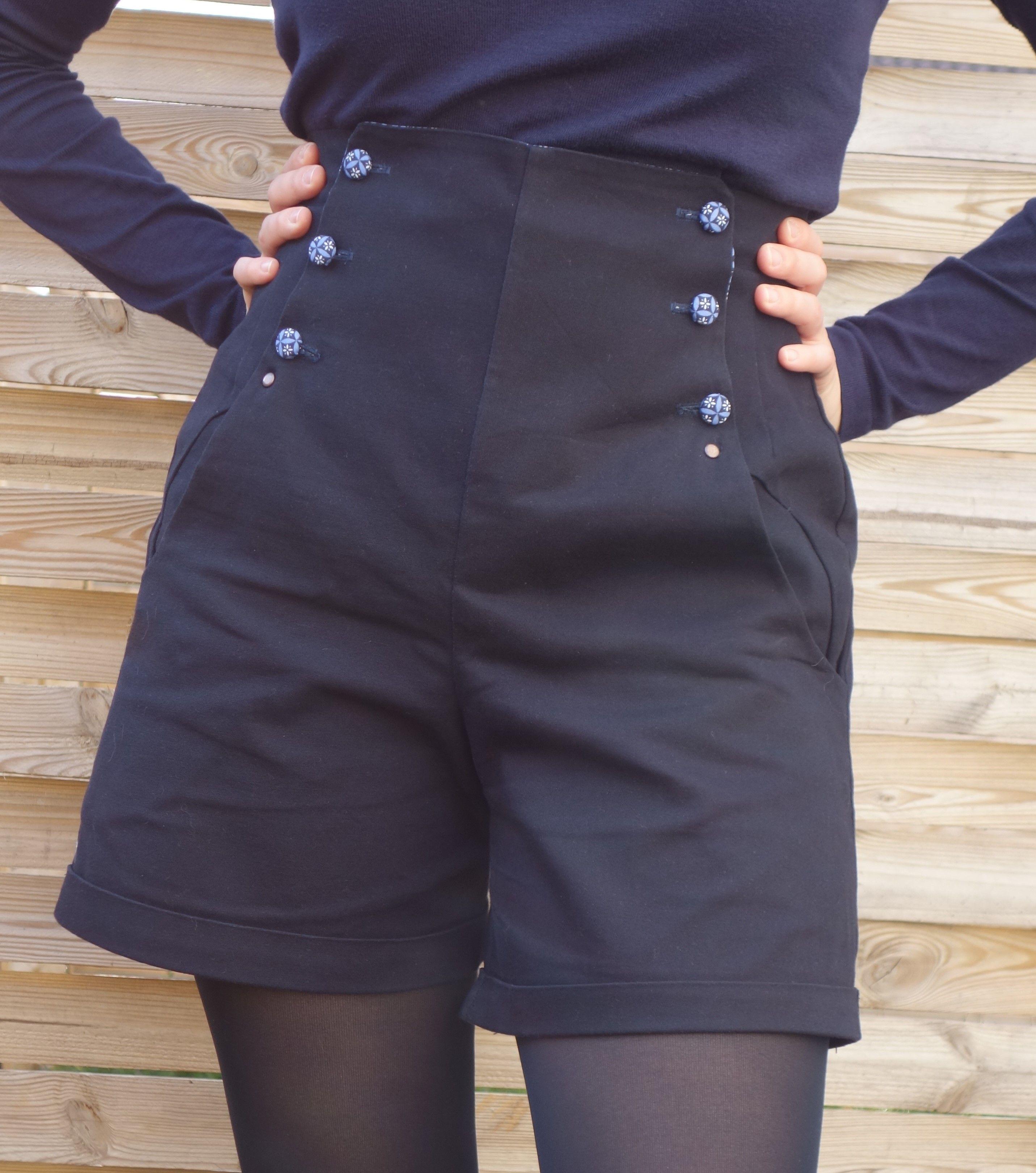 patron couture short taille haute