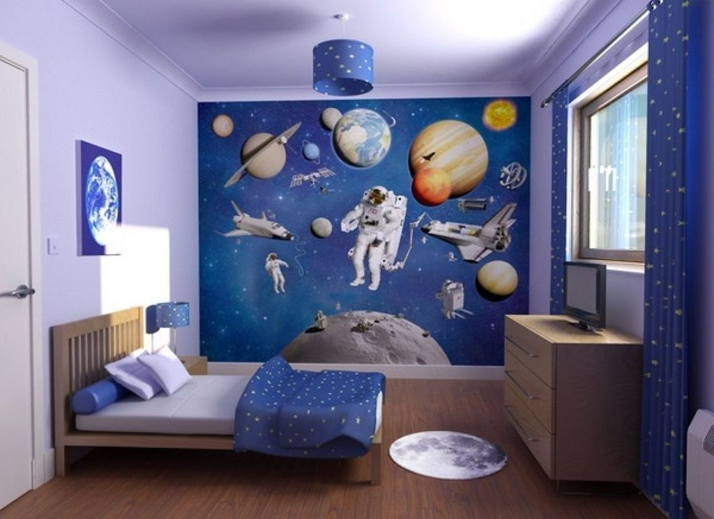26 Stunning Outer Space Themed Bedroom Ideas For Boys Space